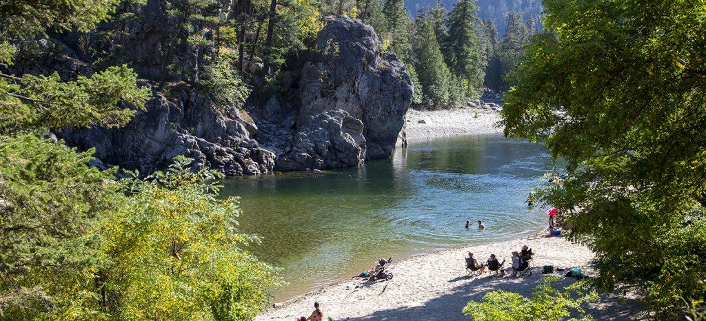Swimming 459, Bromley Rock Provincial Park, near Princeton, Similkameen, summer, activities, Darren Robinson